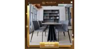 Nội thất TVP bàn giao bộ bàn ăn mặt đá 6 ghế nhà Anh Lâm quận Bình Tân