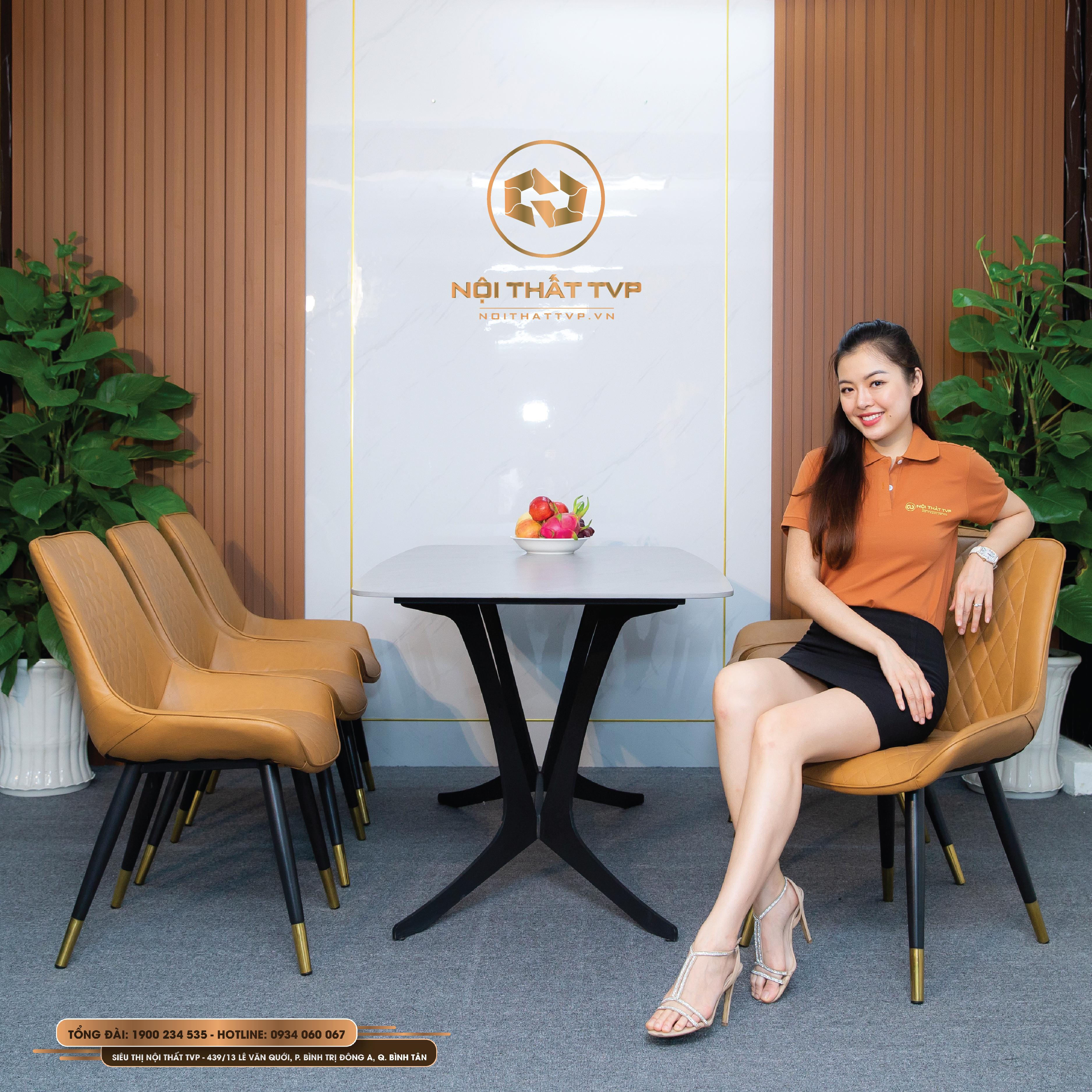 Bộ bàn ăn 6 ghế nhập khẩu mặt bàn ceramic