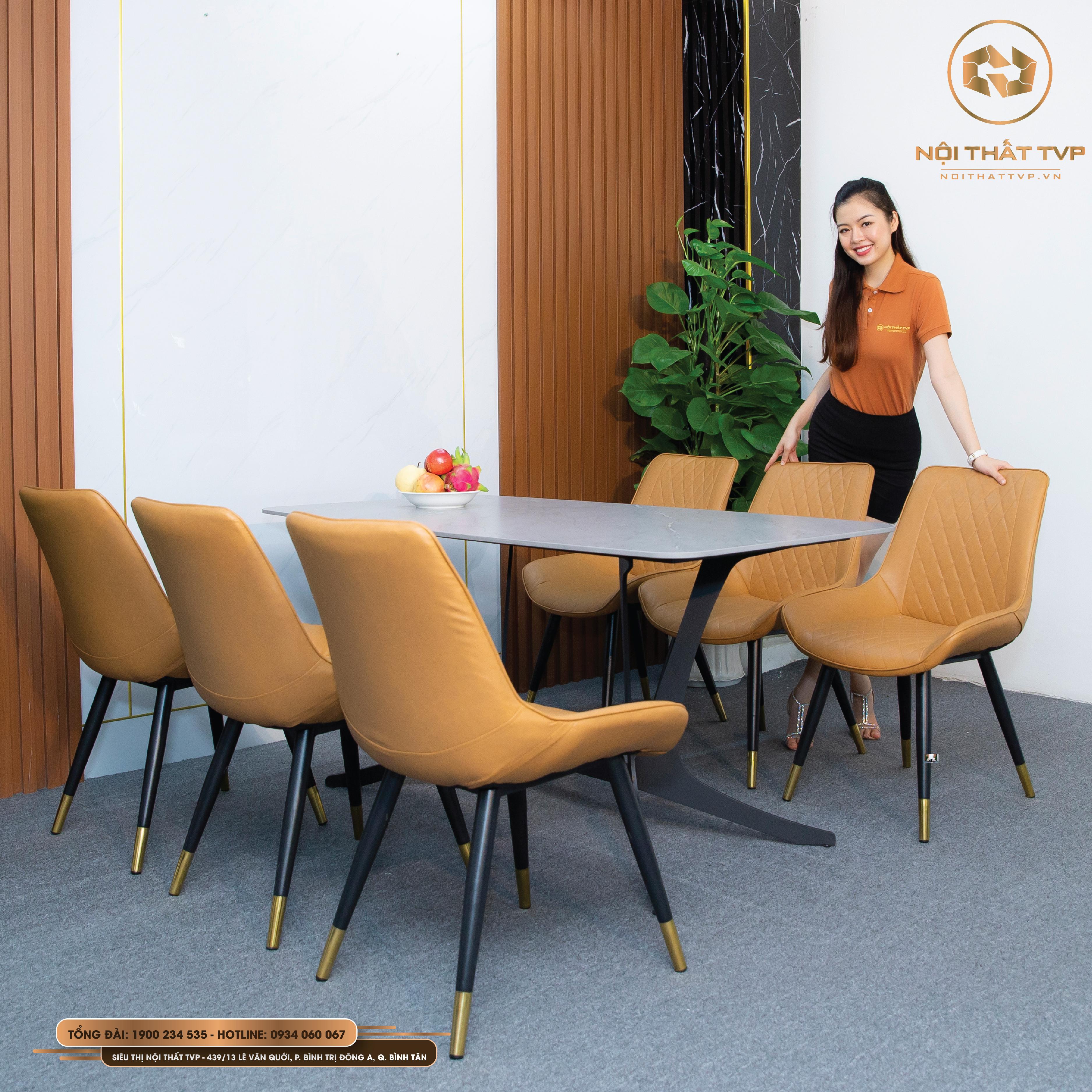 Bộ bàn ăn 6 ghế nhập khẩu 202112