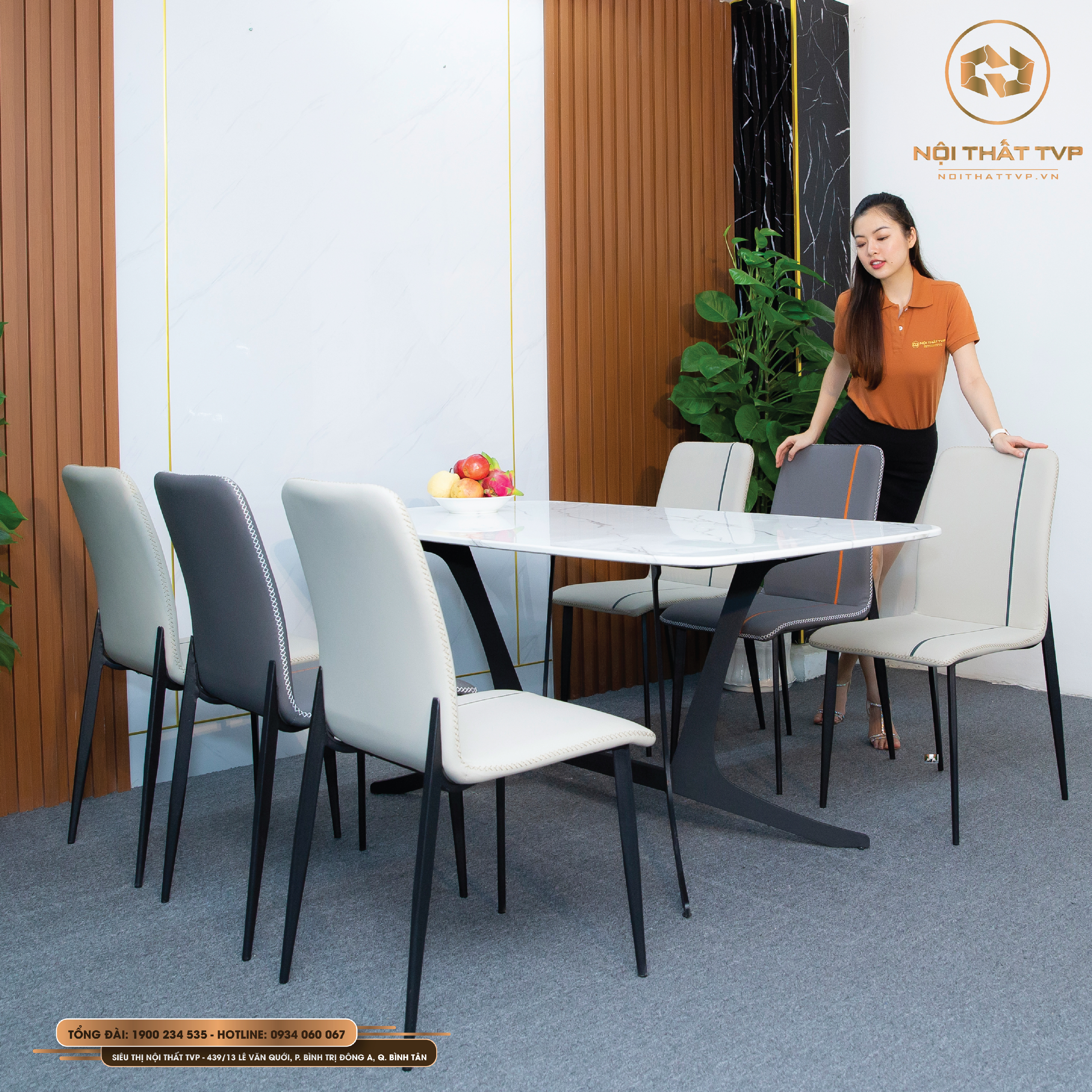 bộ bàn ăn 6 ghế tvp20120